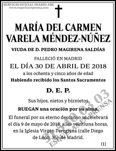 María del Carmen Varela Méndez-Núñez